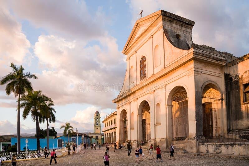 Cathédrale de trinité sainte, Trinidad, Cuba image libre de droits