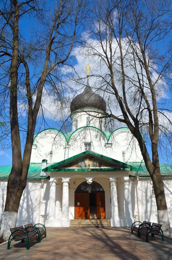 Cathédrale de Troitsky dans Aleksandrovskaya Sloboda, Alexandrov, anneau d'or de la Russie image libre de droits