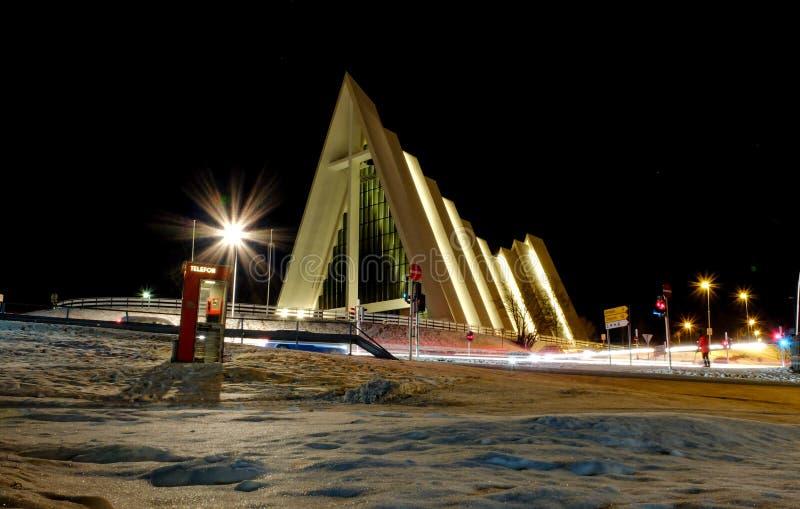 Cathédrale de Tromso photographie stock libre de droits