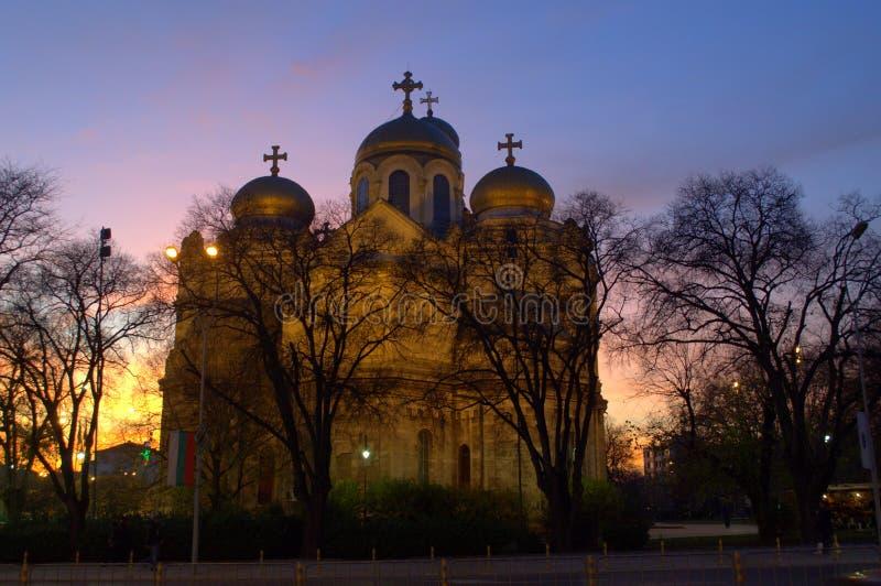 Cathédrale de ville de Varna photo libre de droits