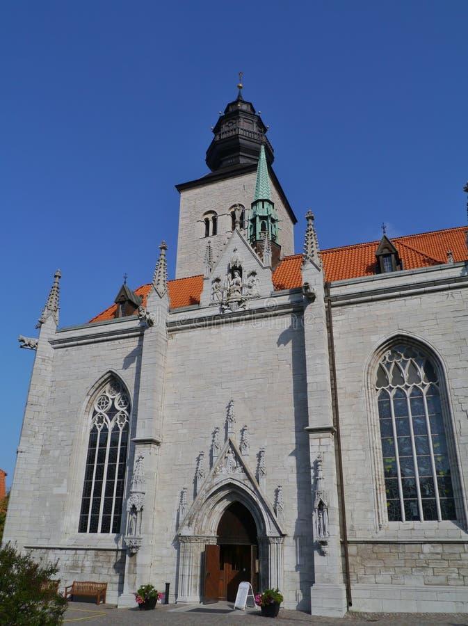 Cathédrale de Visby sur le Gotland photographie stock libre de droits