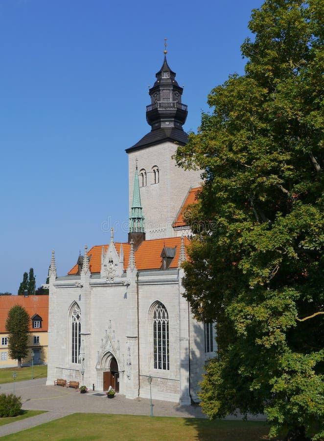 Cathédrale de Visby sur le Gotland image libre de droits