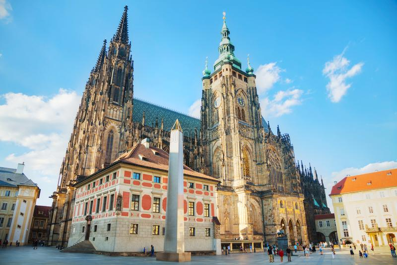 Cathédrale de Vitus de saint à Prague image stock