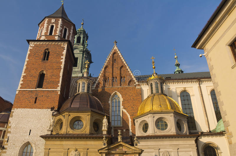 Cathédrale de Wawel à Cracovie, Pologne image libre de droits