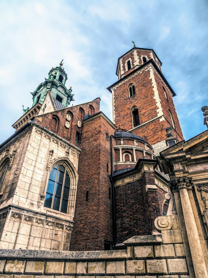 Cathédrale de Wawel, Cracovie, Pologne images stock