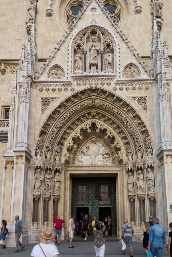 Cathédrale de Zagreb, Croatie photo stock