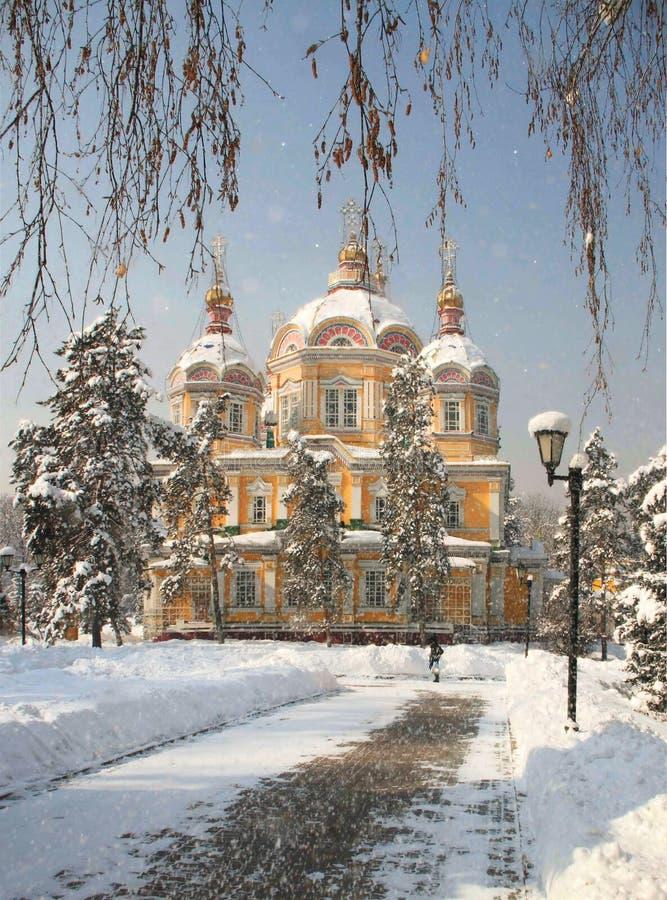 Download Cathédrale De Zenkov à Almaty, Kazakhstan Image stock - Image du construit, jour: 45369001