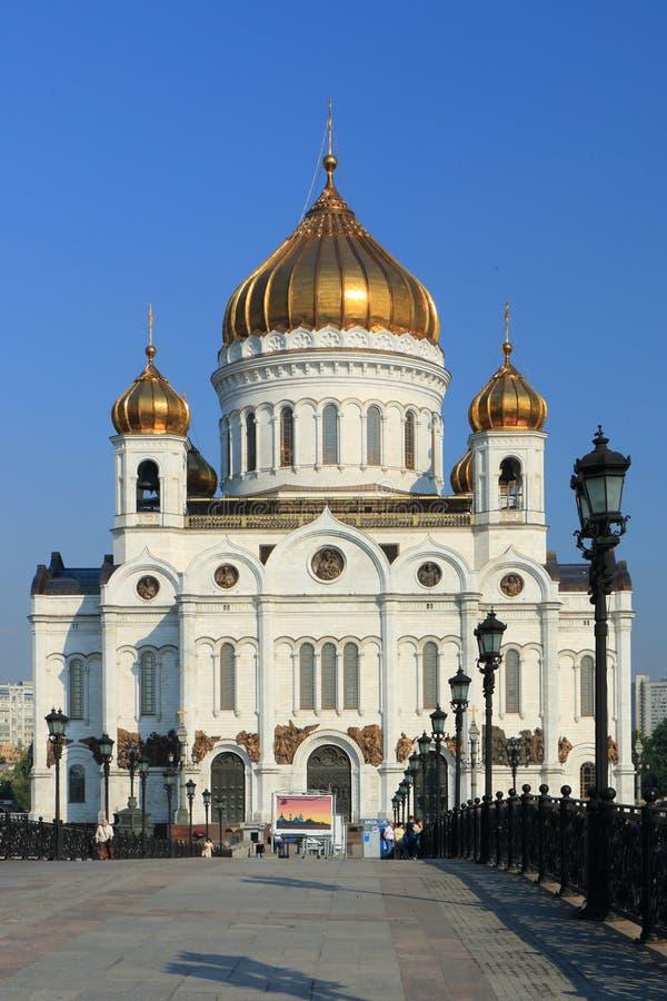 Cathédrale du Christ le sauveur à Moscou images libres de droits