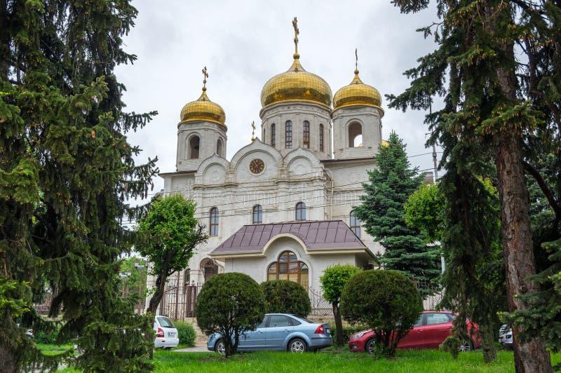 Cathédrale du Christ le sauveur dans Pyatigorsk photos libres de droits