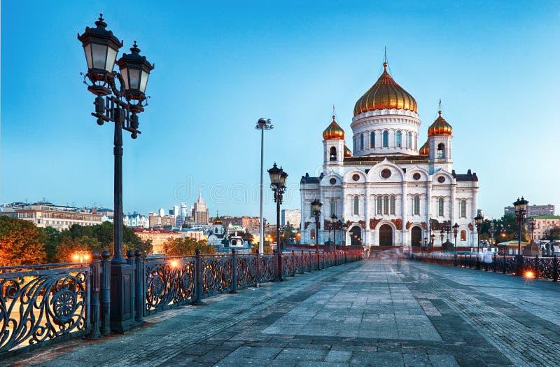 Cathédrale du Christ le sauveur, Moscou, Russie photos stock