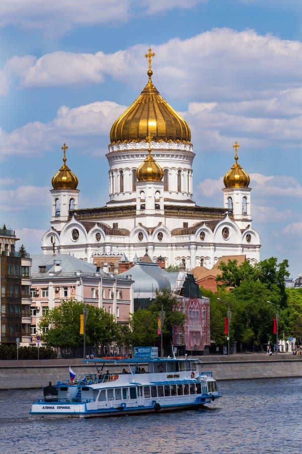 Cathédrale du Christ le sauveur moscou Russie images stock