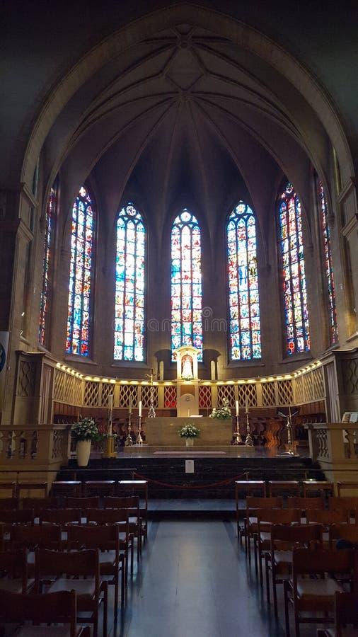 Cathédrale du luxembourgeois d'église photo libre de droits