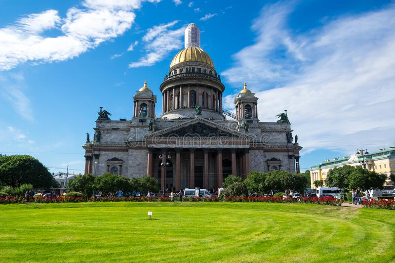 Cathédrale du `s d'Isaac de saint images libres de droits
