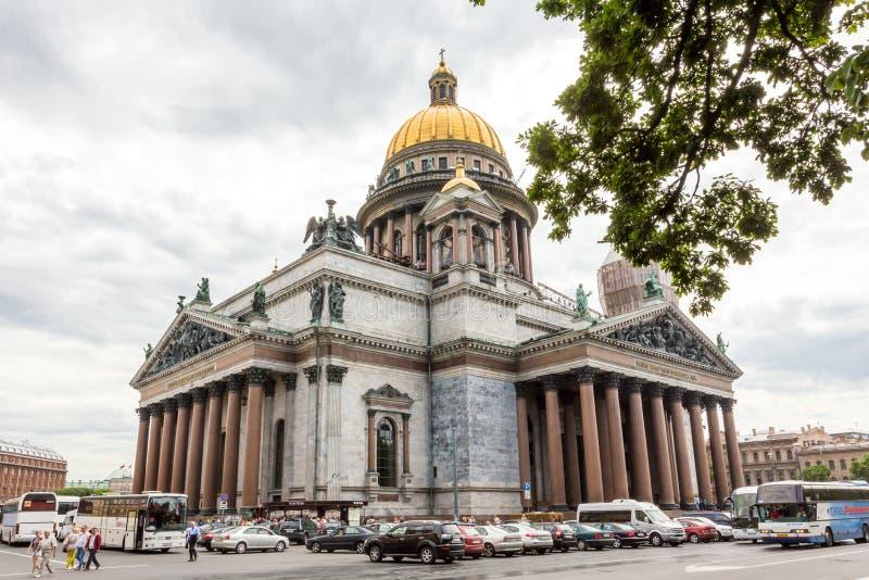 Cathédrale du ` s d'Isaac de saint la plus grande cathédrale orthodoxe russe dans le St Petersbourg, Russie photographie stock libre de droits