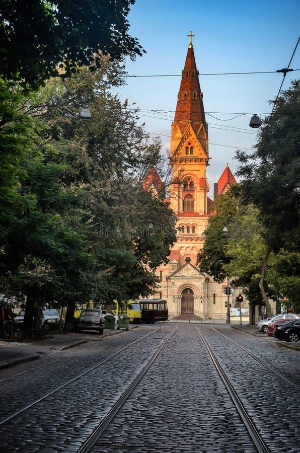 Cathédrale du ` s d'Odessa Lutheran St Paul de l'Allemand images libres de droits