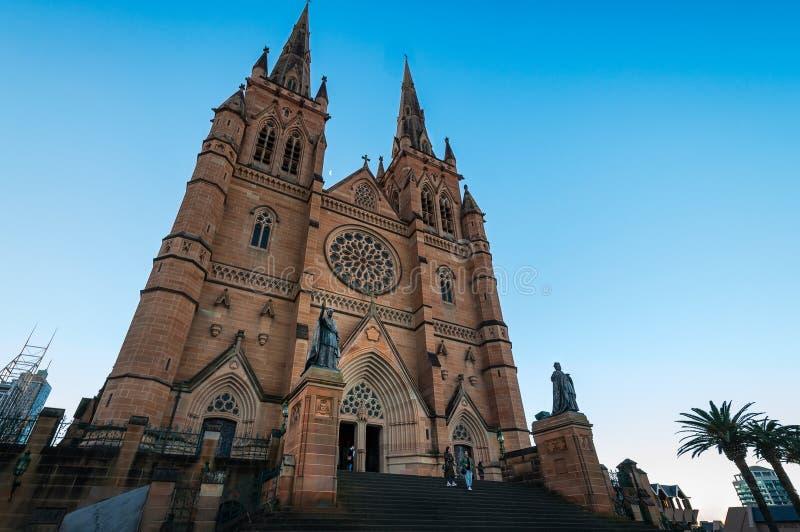 Cathédrale du ` s de St Mary à Sydney photos libres de droits