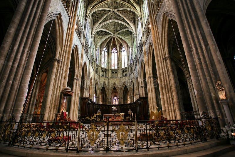 Cathédrale en Bordeaux image libre de droits