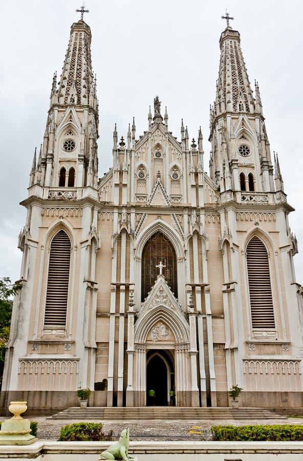Cathédrale Espirito Santo Brésil de Vitoria photo stock