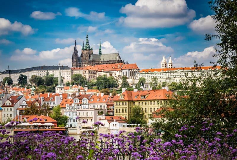Cathédrale et bâtiment de gouvernement de Prague image libre de droits