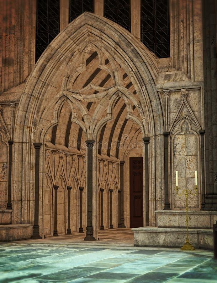 Cathédrale foncée photo libre de droits
