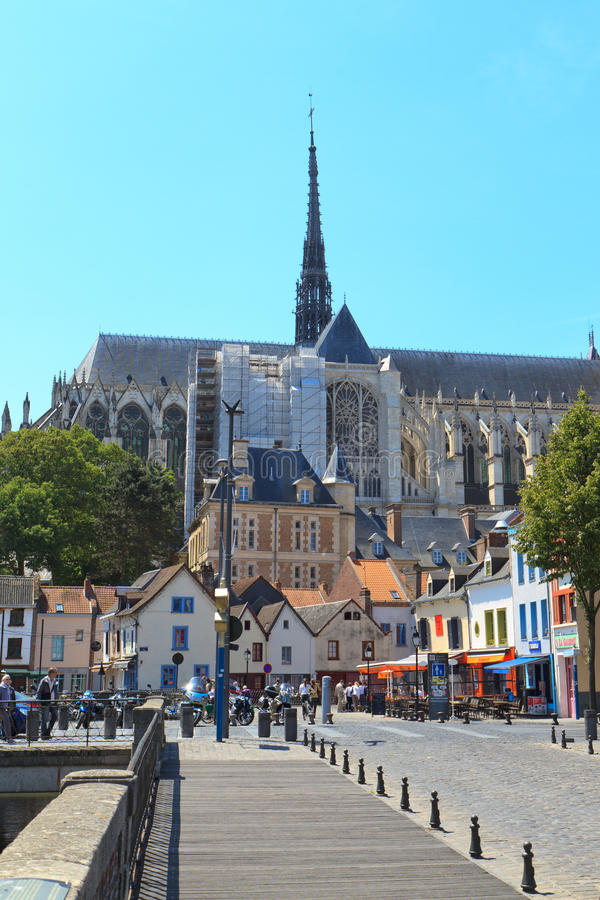 Cathédrale France 1 d'Amiens images stock