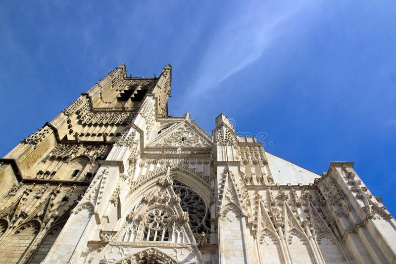 Cathédrale Frances de St Etienne, Auxerre photo libre de droits