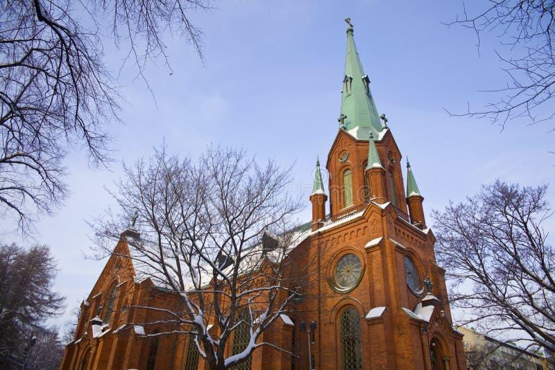 Cathédrale gothique à Tampere photos stock