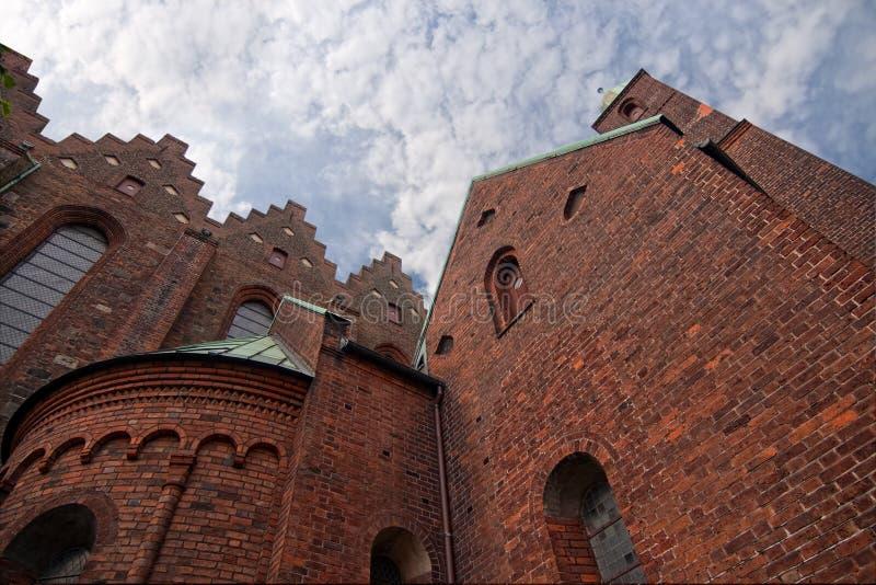 Cathédrale grande à Aarhus, Danemark images libres de droits