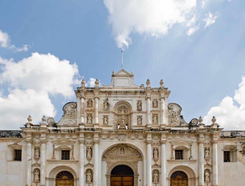 Cathédrale guatémaltèque photographie stock libre de droits