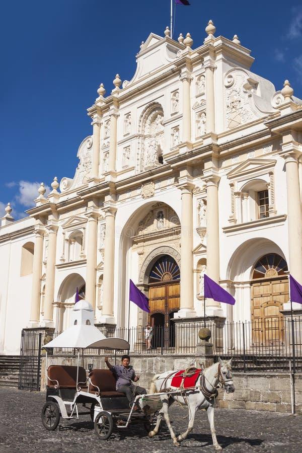cathédrale Guatemala de l'Antigua photos libres de droits