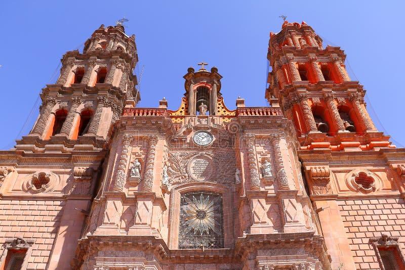 Cathédrale II de San Luis Potosi images libres de droits