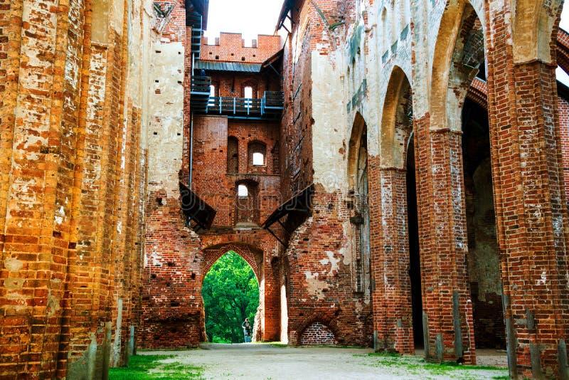Cathédrale intérieure de Dorpat dans Tartu, Estonie photos libres de droits
