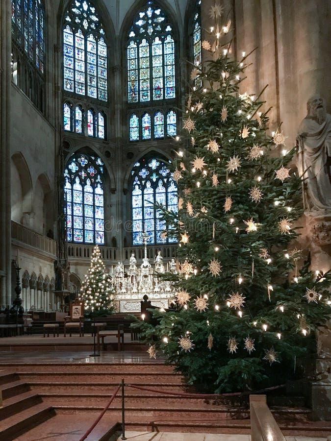 Cathédrale intérieure de Ratisbonne images libres de droits