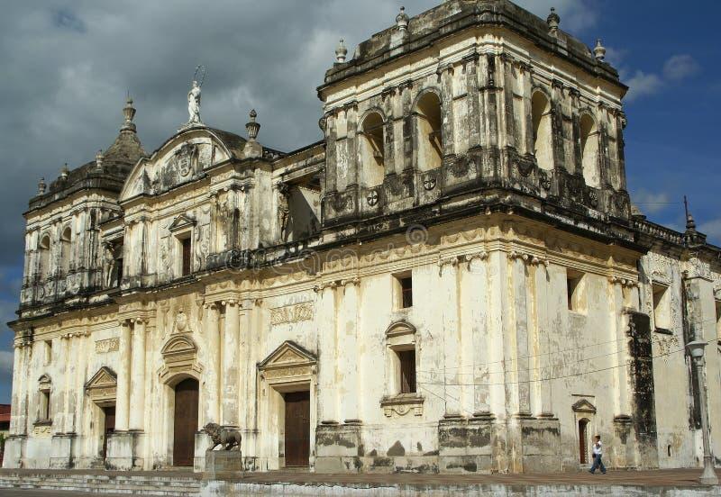 Cathédrale, Léon, Nicaragua photographie stock libre de droits