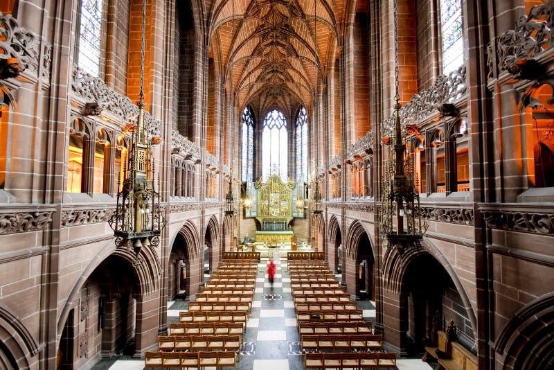 cathédrale Liverpool intérieur image libre de droits