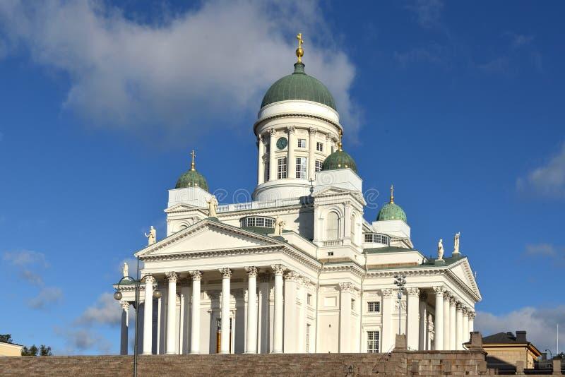 Cathédrale luthérienne évangélique finlandaise du diocèse 1852 de Helsinki, situé dans le voisinage de Kruununhaka photographie stock libre de droits