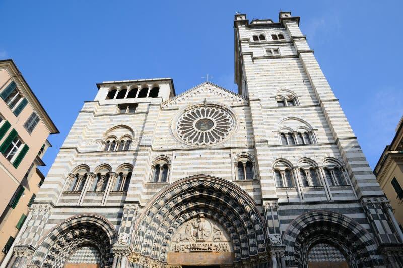 Cathédrale de Gênes, Italie photos libres de droits