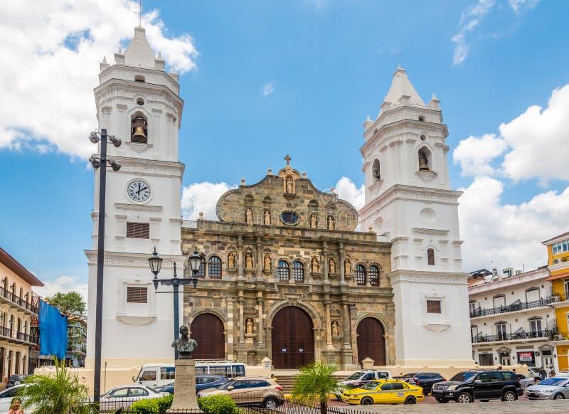 Cathédrale métropolitaine dans le vieux secteur Casco Viejoof Panamá City - Panama photo stock