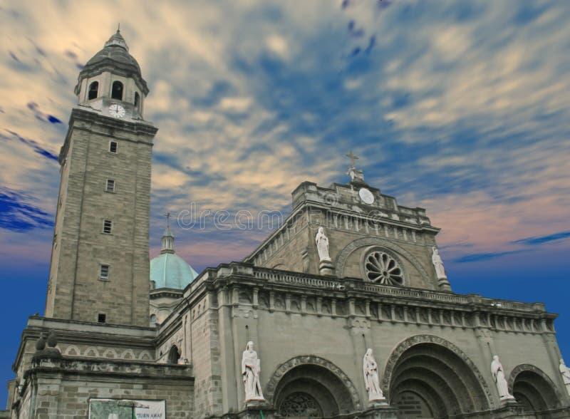 cathédrale Manille photos stock
