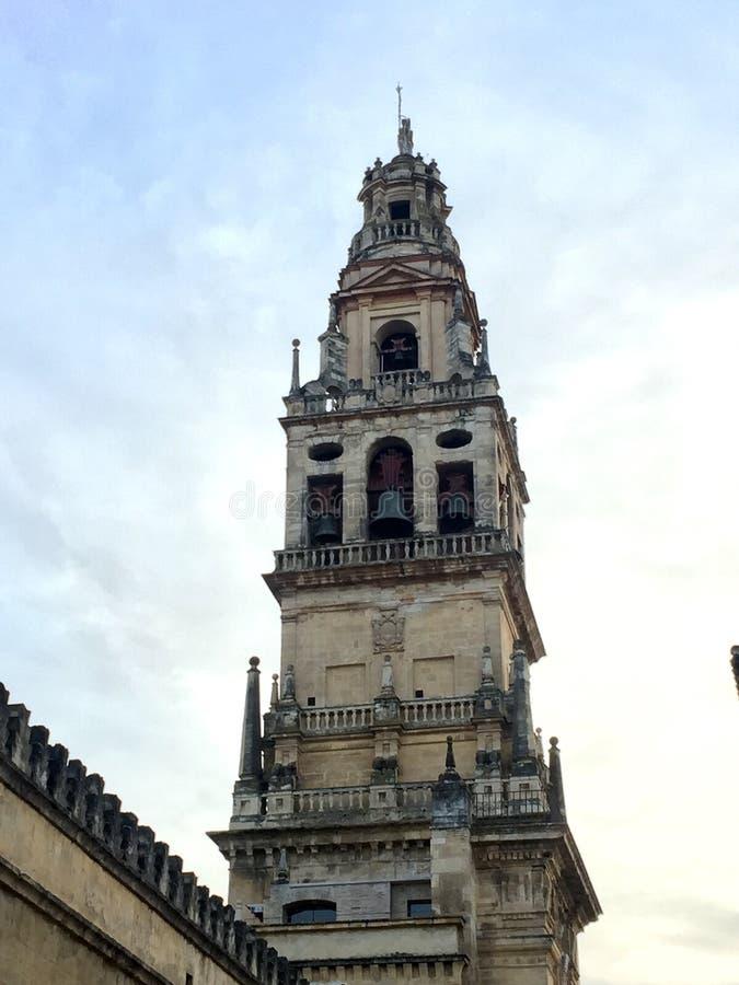 Cathédrale-mosquée de Cordoue en Espagne images libres de droits