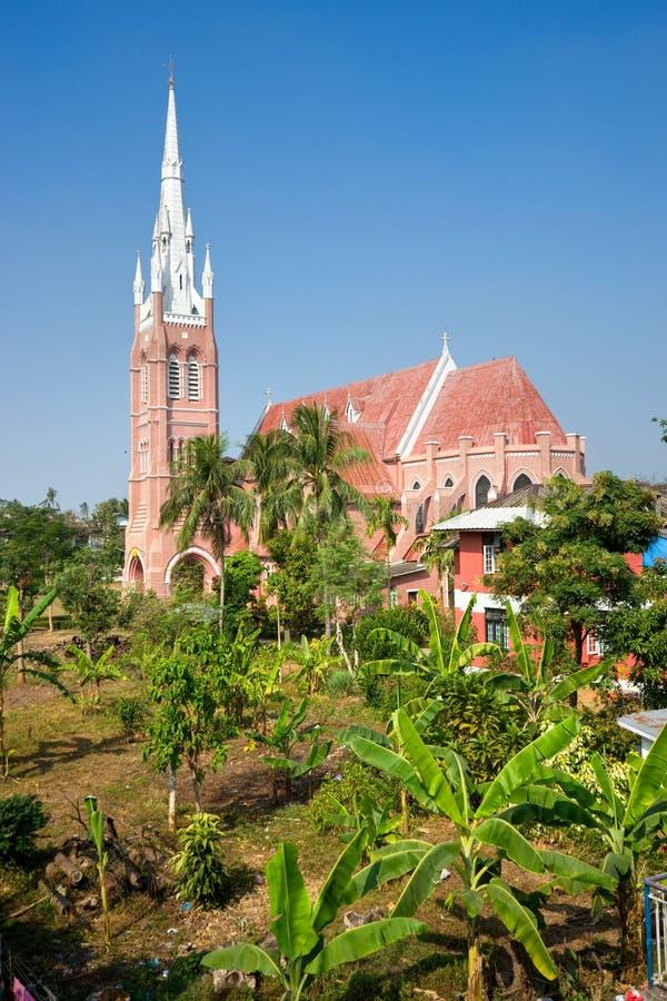 cathédrale myanmar yangon images libres de droits