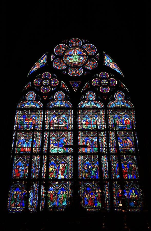 Cathédrale Notre Dame de Pari fotografia de stock