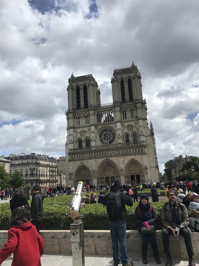 Cathédrale notre paniusia de Paris obraz royalty free