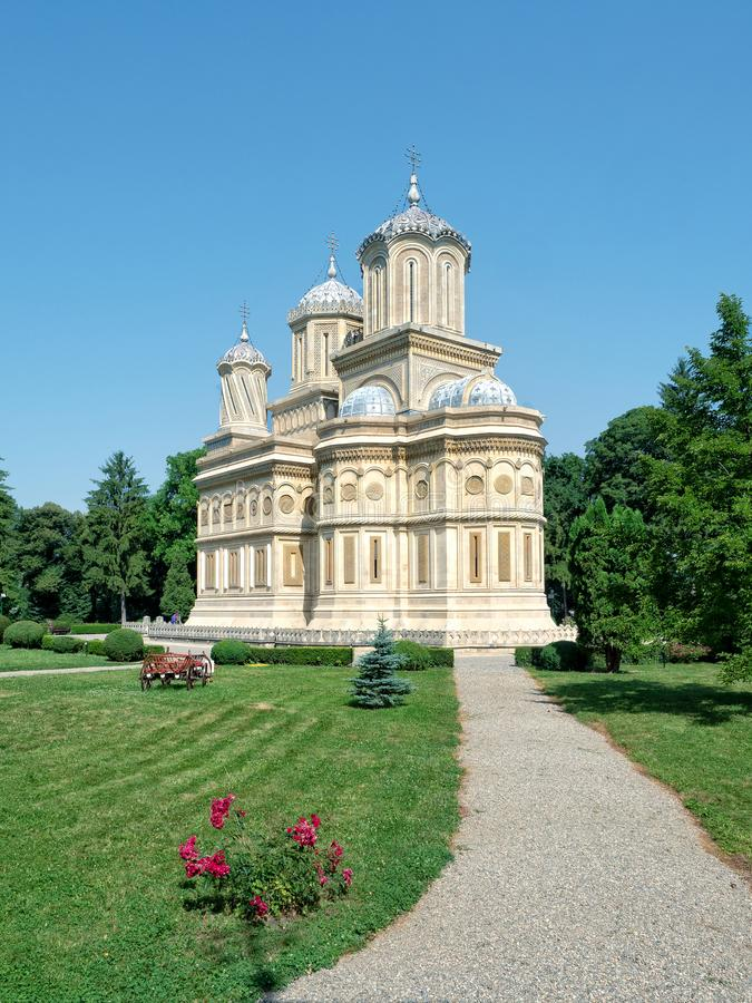 Cathédrale orthodoxe, Curtea de Arges, Roumanie images libres de droits