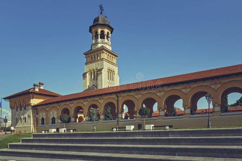 Cathédrale orthodoxe de couronnement, Alba Iulia, Roumanie photographie stock libre de droits