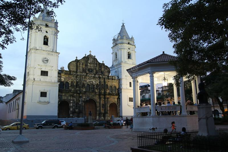 Cathédrale, Panamá City photographie stock libre de droits