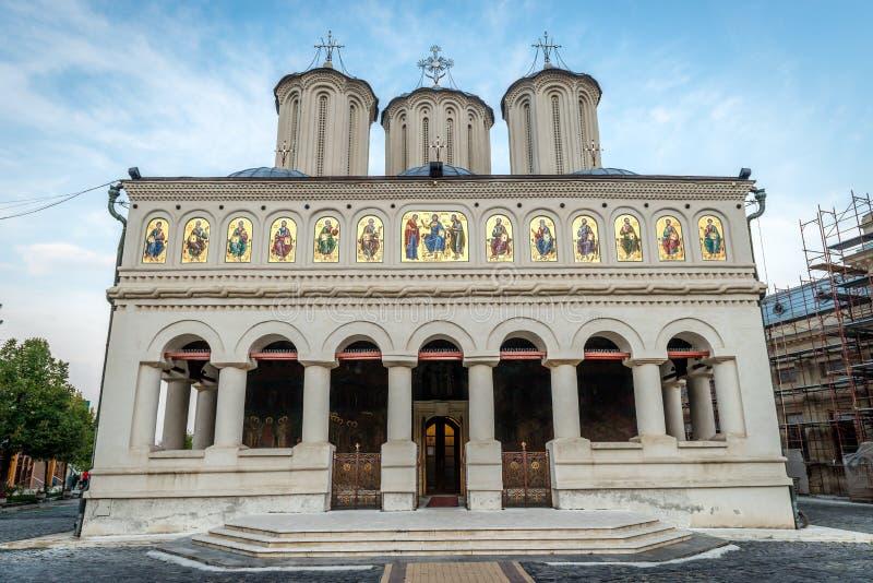Cathédrale patriarcale orthodoxe roumaine à Bucarest images libres de droits