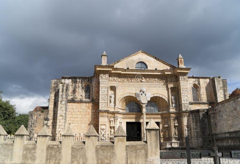 Cathédrale Primada de Amérique Santo Domingo images libres de droits