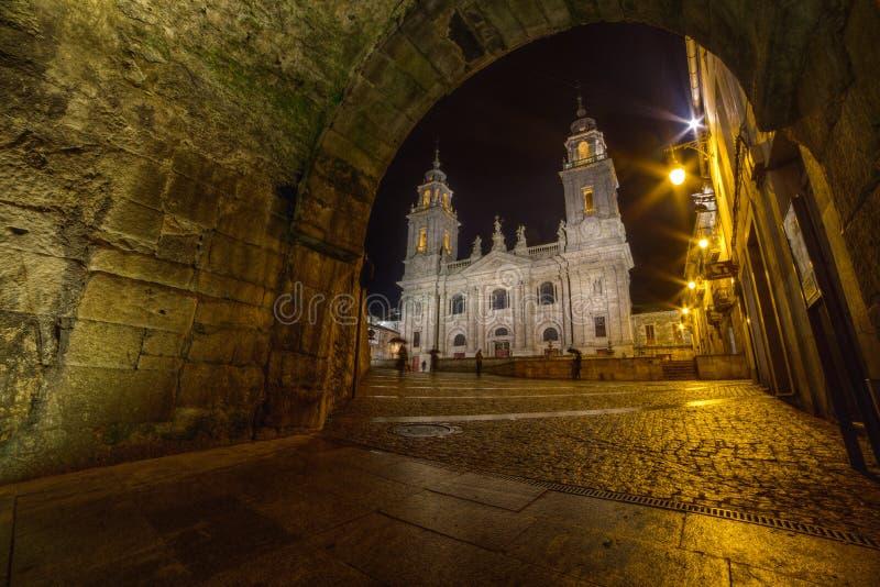 Cathédrale Romanic de Lugo image libre de droits