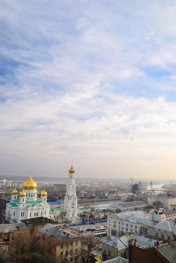 Cathédrale. Rostov-on-Don image stock